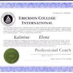 фото Сертификат о присвоении квалификации профессионального коуча по международным стандартам ICF