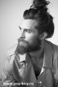 фото Мужчина с бородой на приеме у психолога