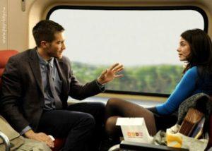 картинка Разговор в поезде